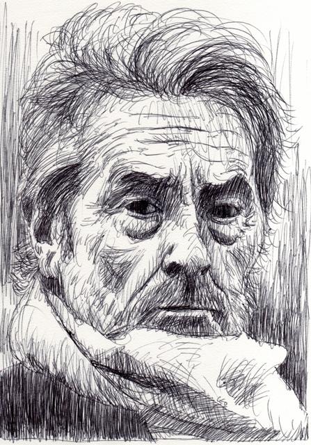 Alain Delon par leopeintre